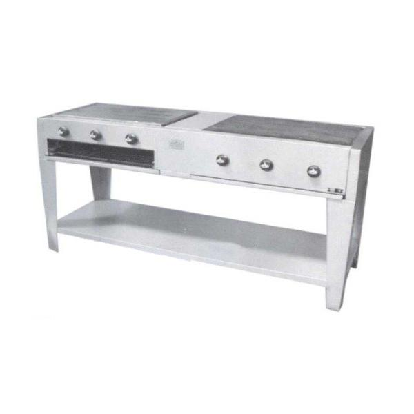 Plancha con grill